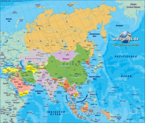 Map of Asia, map of the world political - Map in the Atlas