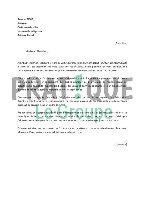 Lettre De Motivation Educateur Sportif Sans Diplome