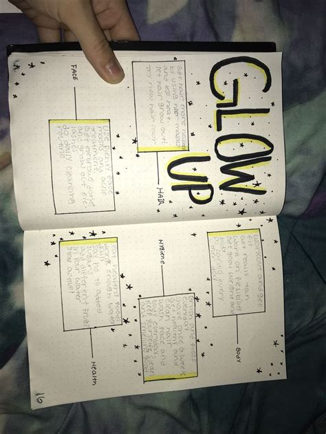 5 ways to glow up over the summer - bullet journal