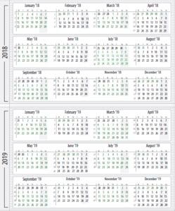 2018 and 2019 broadcast calendars from RAB   Media