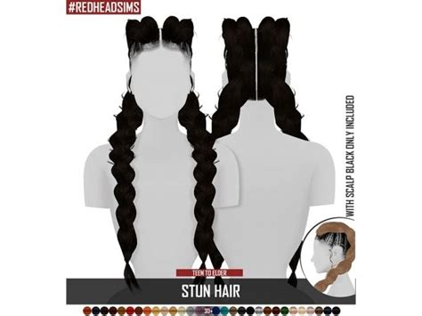 STUN HAIR - The Sims 4 Download - SimsDom | The sims 4