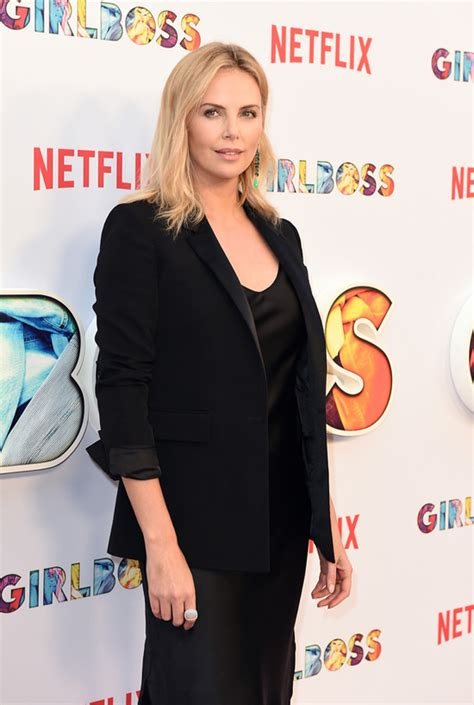 """Charlize Theron Suits Up for Netflix's """"Girlboss"""" Premiere"""