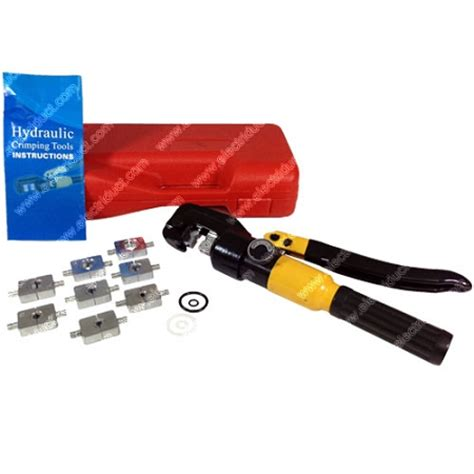 8 Ton Hydraulic Crimping Tool with 10mm Stroke | Copper