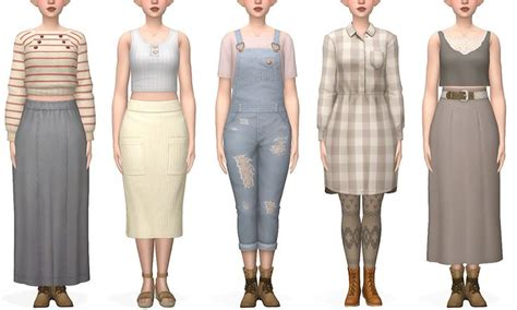 cottage core looks; in 2020 | Sims 4 dresses, Sims 4