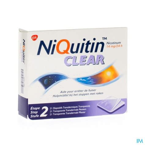 NIQUITIN CLEAR PATCHES 21 X 14 MG | Apotena