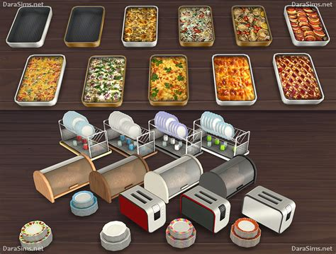 My Sims 4 Blog: Kitchen Clutter and Food Decor by Dara