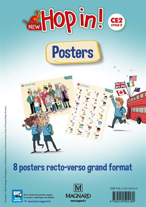 New Hop In! CE2 (2018) - Posters | Magnard Enseignants