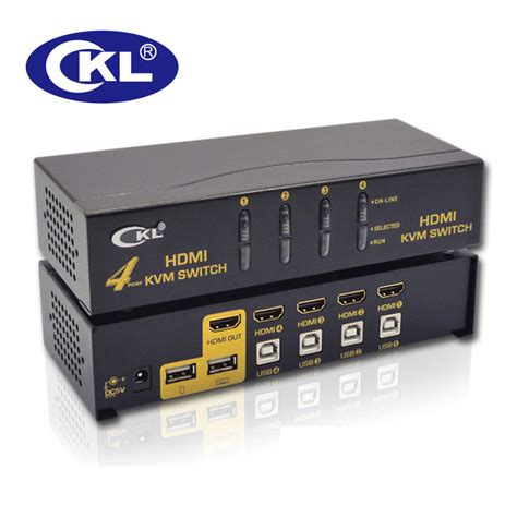 CKL USB HDMI KVM Switch 4 Port without Cable, PC Monitor