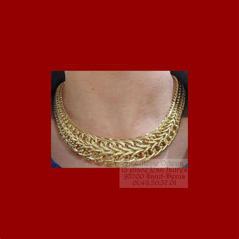 Collier russe or 18 carats - Bijouterie Orlena