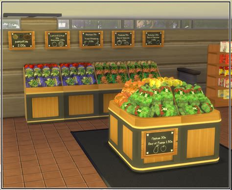Sims 4 Grocery Store Stuff! | Sims 4 restaurant, Sims 4, Sims