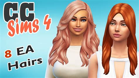 Mes CC SIMS 4 #16 - COIFFURES - YouTube