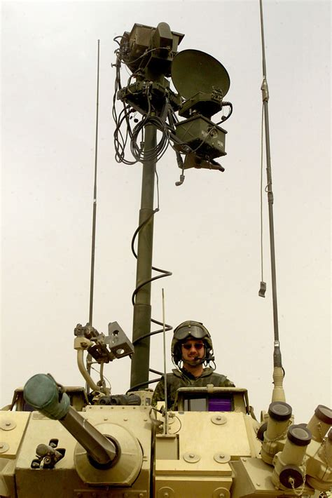 The mast-mounted radar of the Coyote's surveillance system