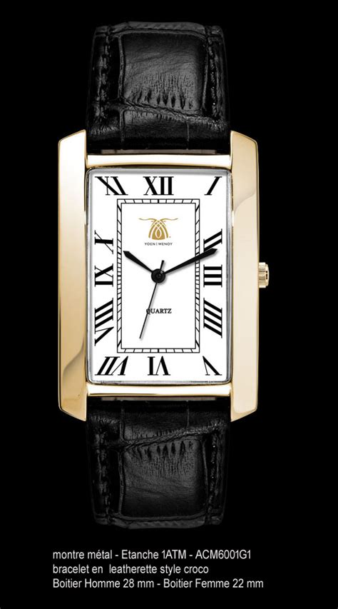 montre homme extra plate rectangulaire