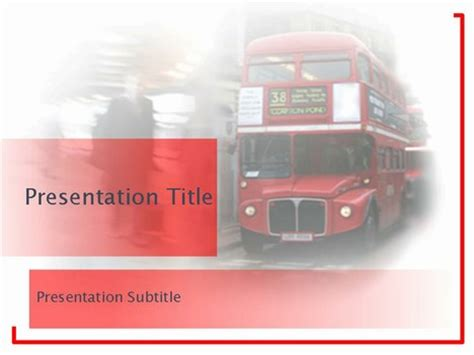 London Bus Template