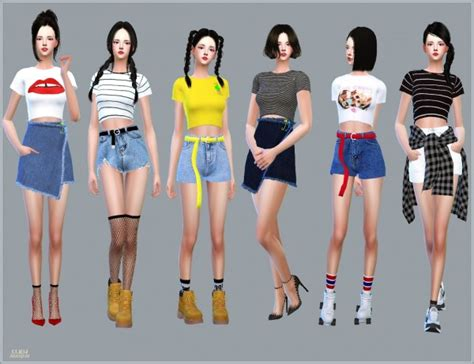 SIMS4 Marigold: New Crop Short Sleeves Top • Sims 4 Downloads